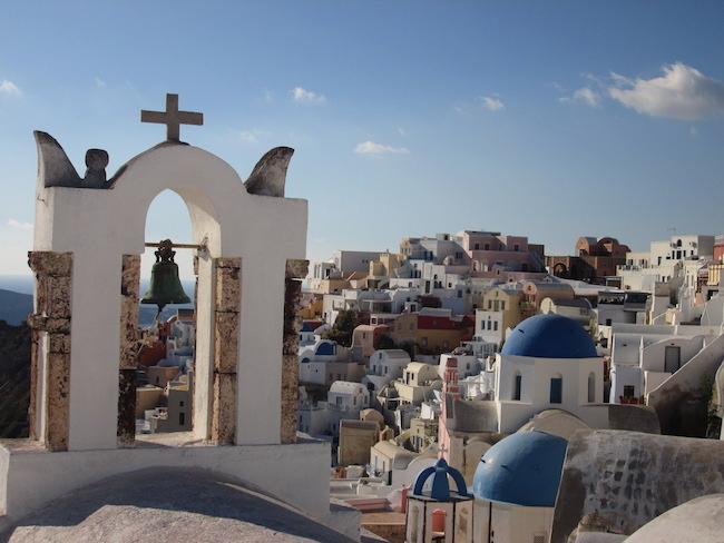 An iconic view of Oia on Santorini island