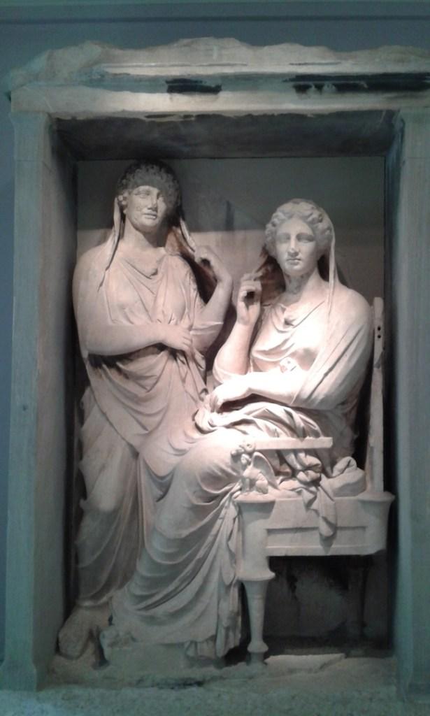 One of the gravestones in the Kerameikos museum