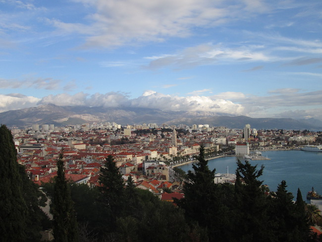 A view from Marjan Forest Park