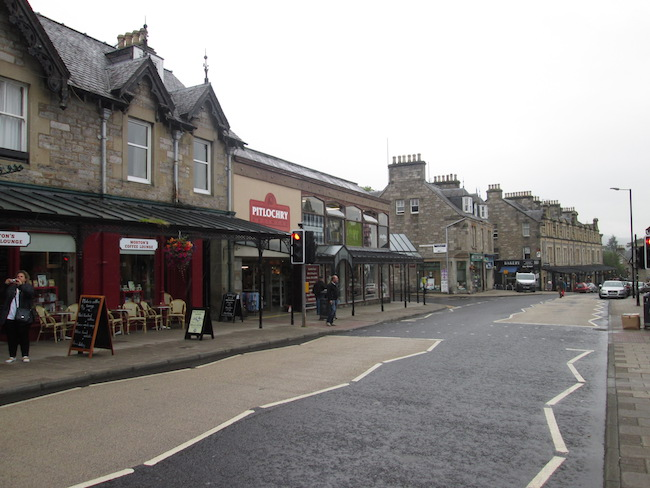 The main street in Pitlochry