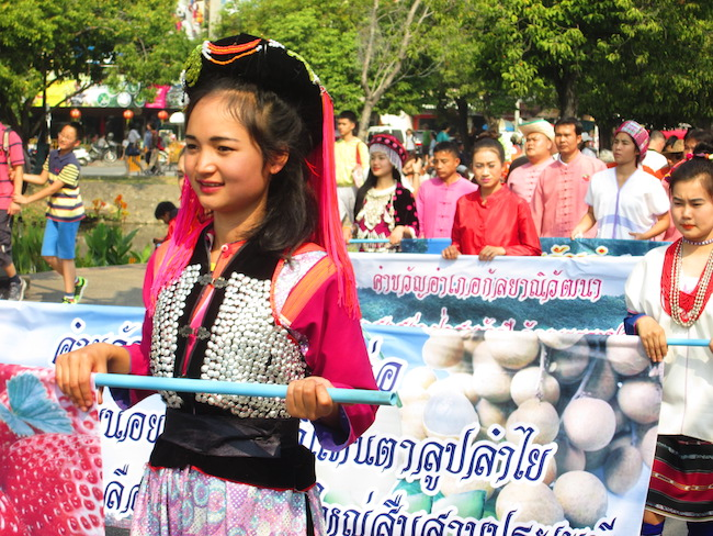 Representatives from Thai Hill Tribes participated in the parade.