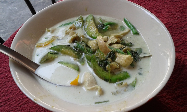 Delicious green curry from Tong Tong Restaurant