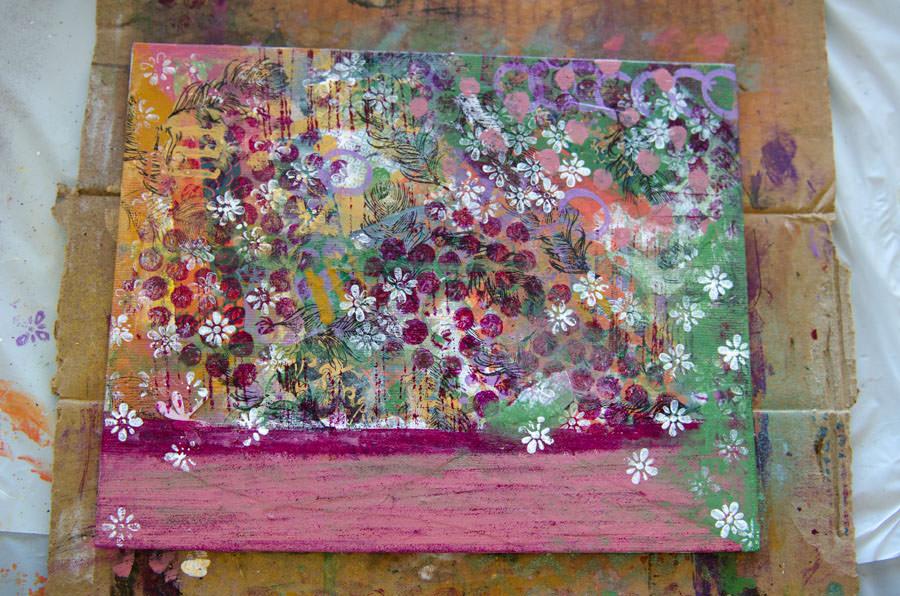 A bright, colorful canvas