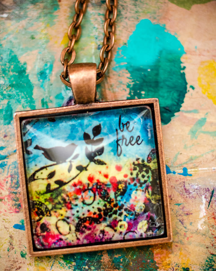 Be Free Mixed Media Necklace