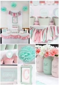 6 ideas para organizar un baby shower, decoracion, mesa ...