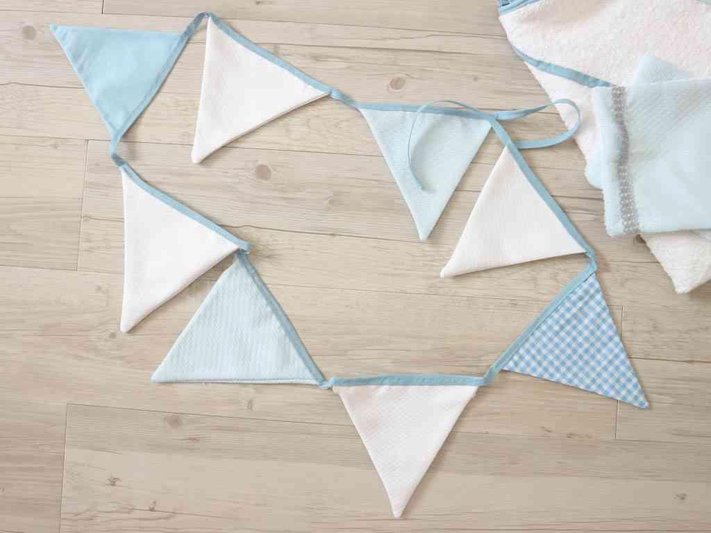 banderines de tela para habitacion de bebe