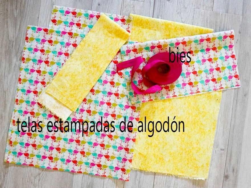 materiales para hacer una bolsa de tela