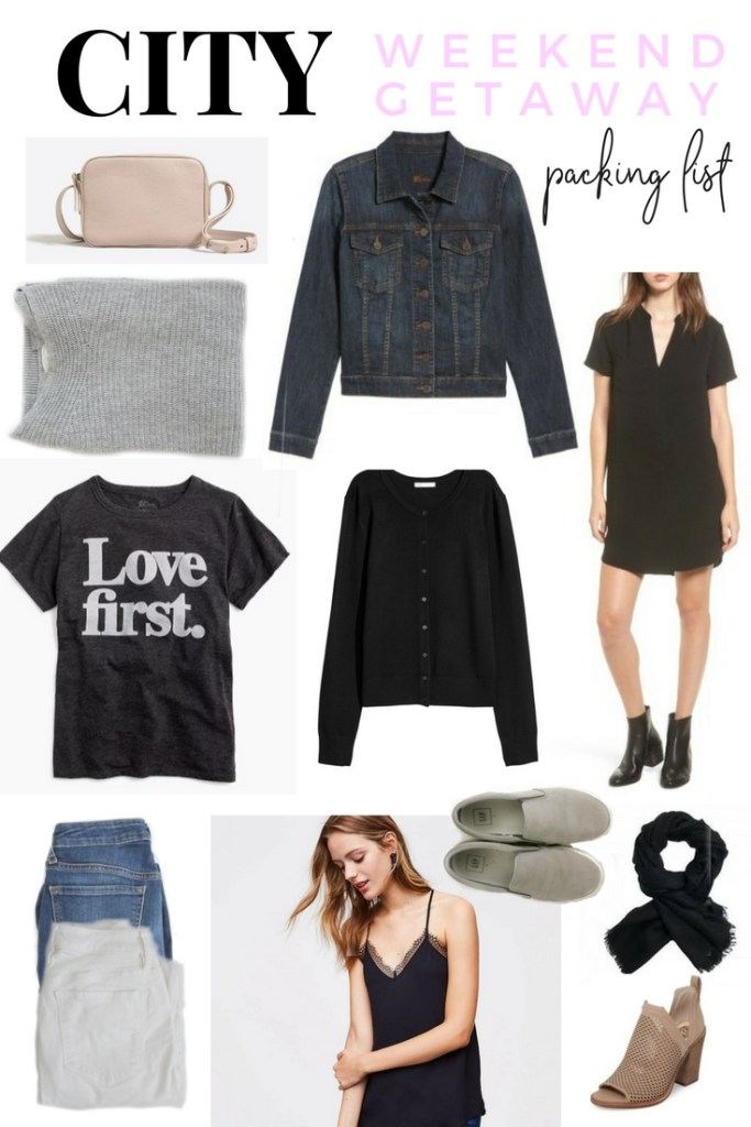 WEEKEND GETAWAY OUTFITS | WEEKEND GETAWAY | WHAT TO PACK FOR A GETAWAY IN THE CITY | NYC GETAWAY | WEEKEND PACKING LIST