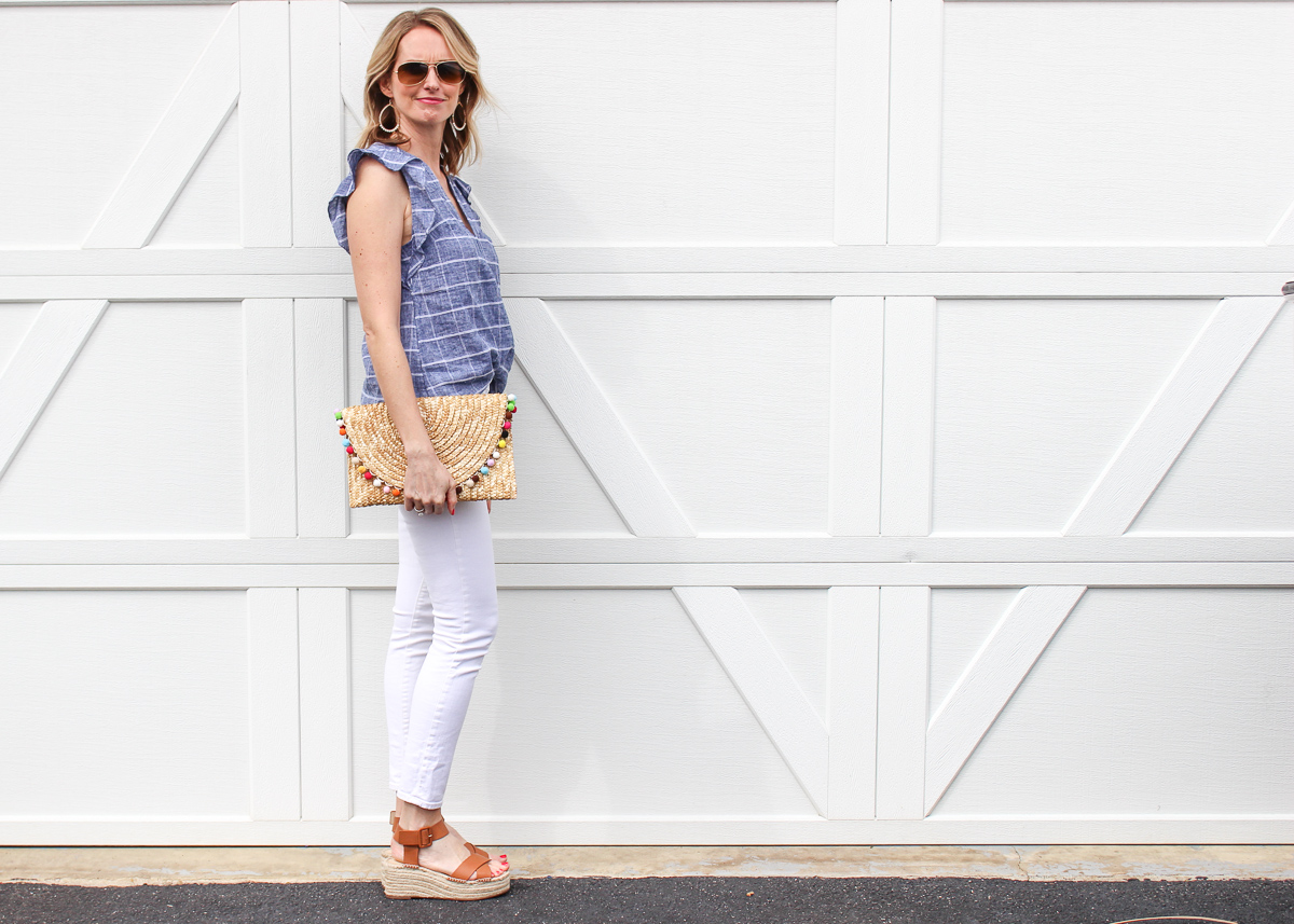 White Denim Spring Outfit