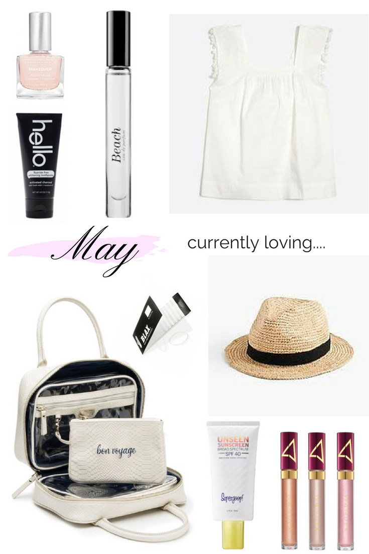 THINGS I AM CURRENTLY LOVING | SPRING | SUMMER | BEAUTY FAVORITES | FASHION FAVORITES | SUMMER FAVORITES | VACATION FAVORITES | FAVORITE THINGS | BEST SUMMER EYESHADOW | THE PERFECT SUMMER HAT | THE BEST TRAVEL MAKEUP BAG | THE BEST SUMMER FRAGRANCE | THE CUTEST SUMMER TOP