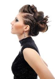 beautiful braided updo hairstyle