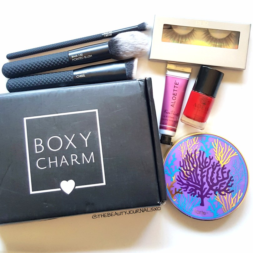 boxycharm august 2017 unboxing and first impressions the beauty