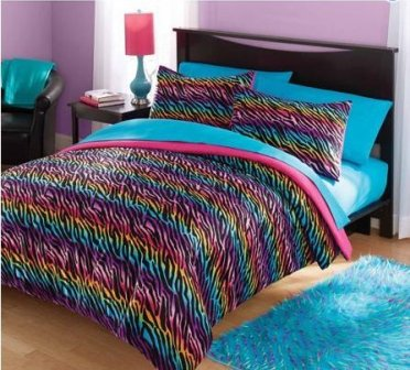 rainbow-zebra-print-bedding-set