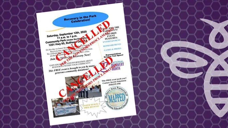 Recovery in the Park Celebration CANCELLED