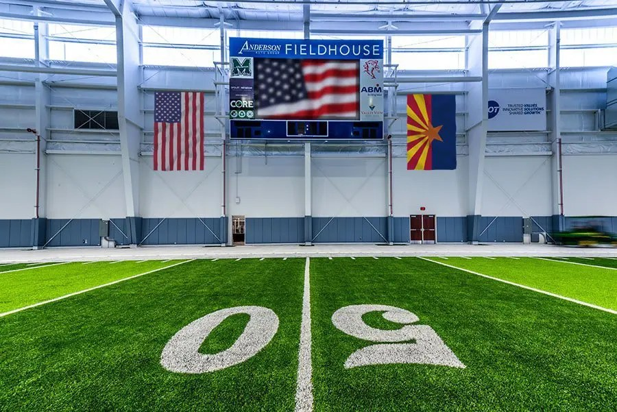New Flags donated to the Anderson Auto Group Fieldhouse