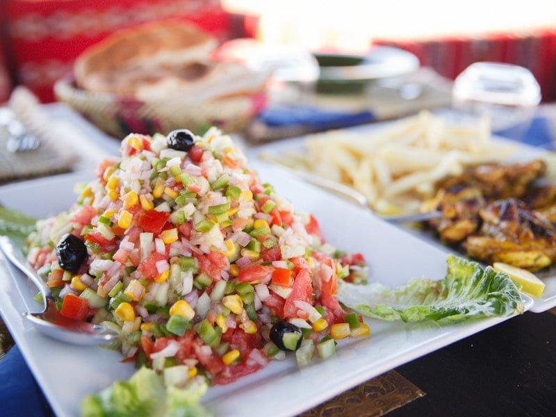 Chopped Vegetables Food Salad Side Dish