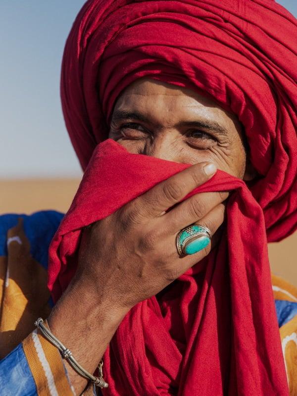 Berber Team Member Said Harmach at Desert Camp Morocco