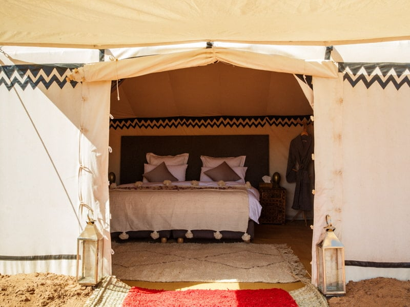 Entrance to Main Bedroom of Luxury Glamping Morocco Tent Suite