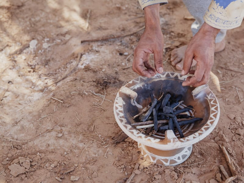 Preparing Lunch in the Sahara Morocco Camp