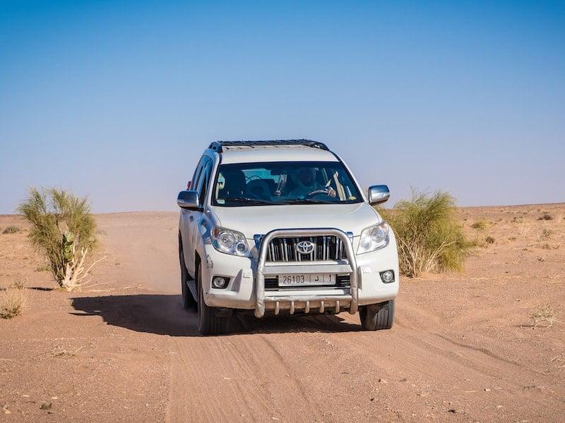 Toyota 4x4 Four Wheel Drive Transportation Vehicle in Moroccan Desert