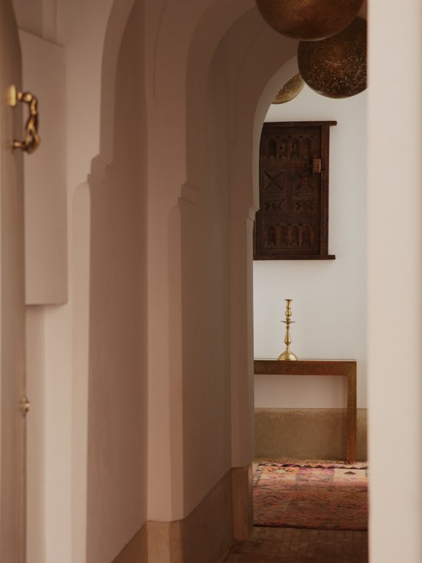 Decorative interior features Moroccan Riad, brass and copper lamp pendant and ceiling lights