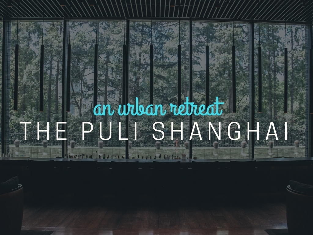 AN URBAN RETREAT AT THE PULI SHANGHAI