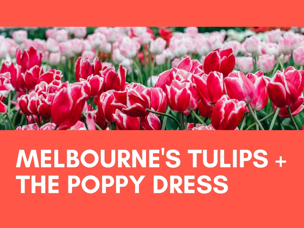 MELBOURNE'S TULIPS + POPPY DRESS