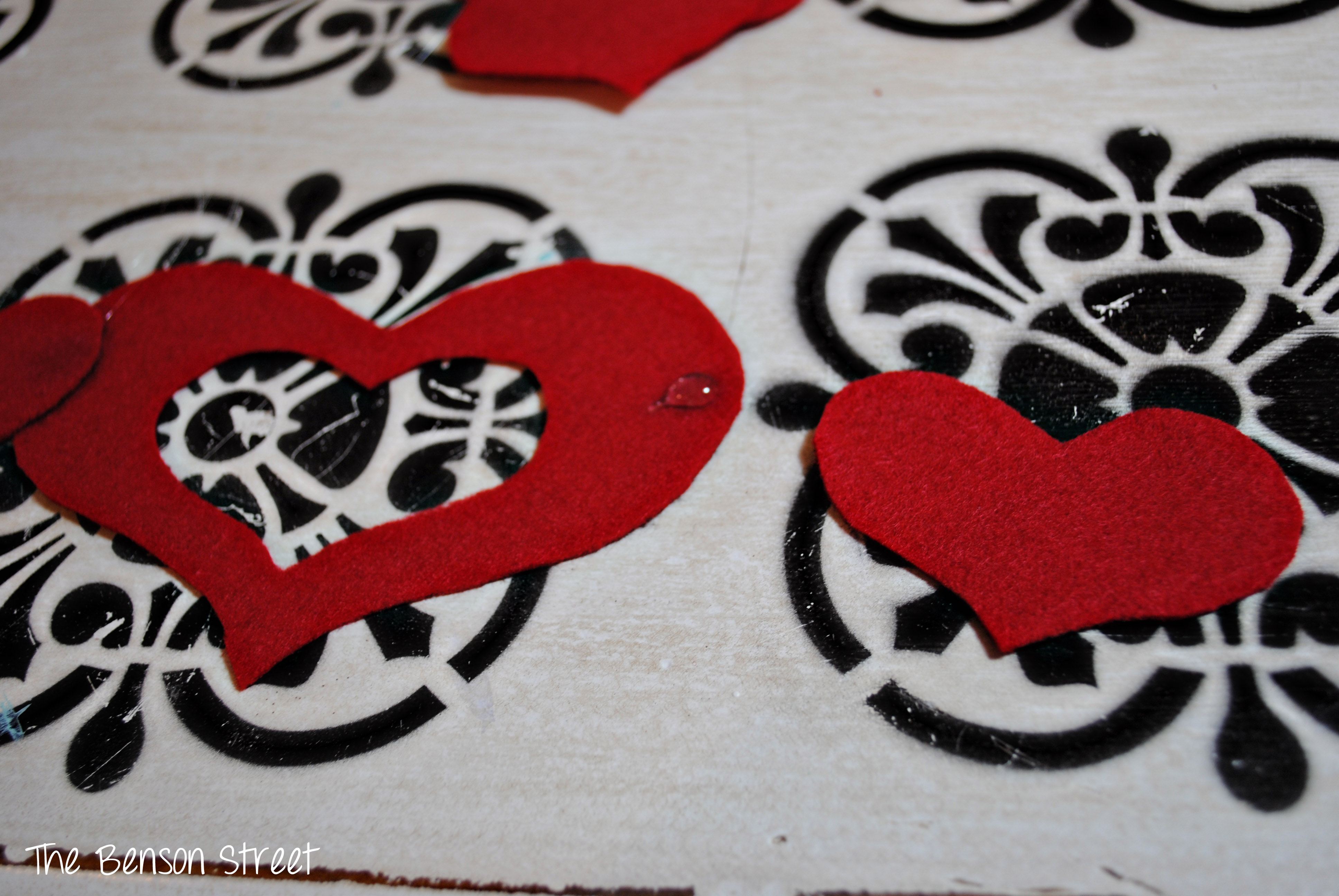 Felt Heart Table Runner3