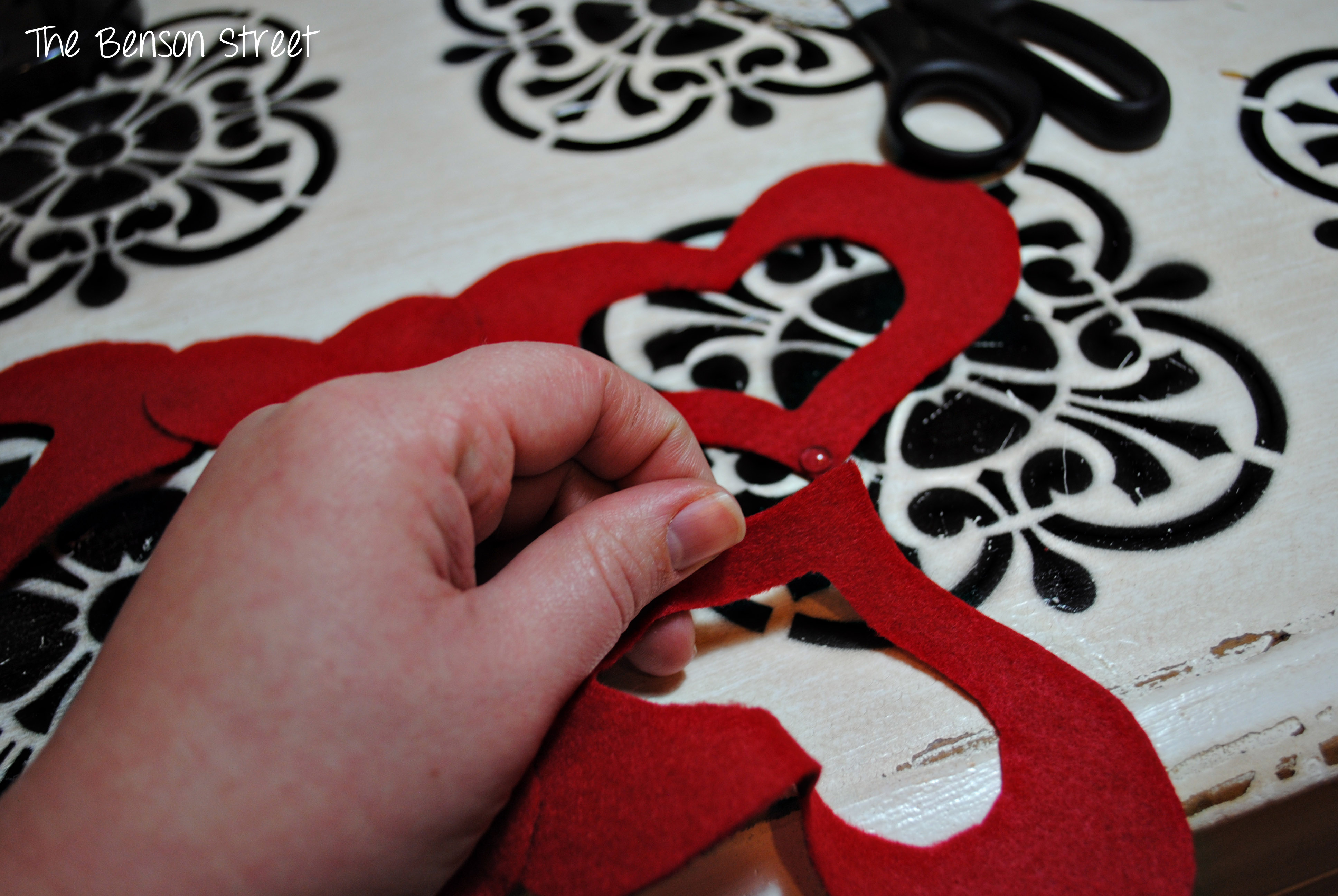 Felt Heart Table Runner5