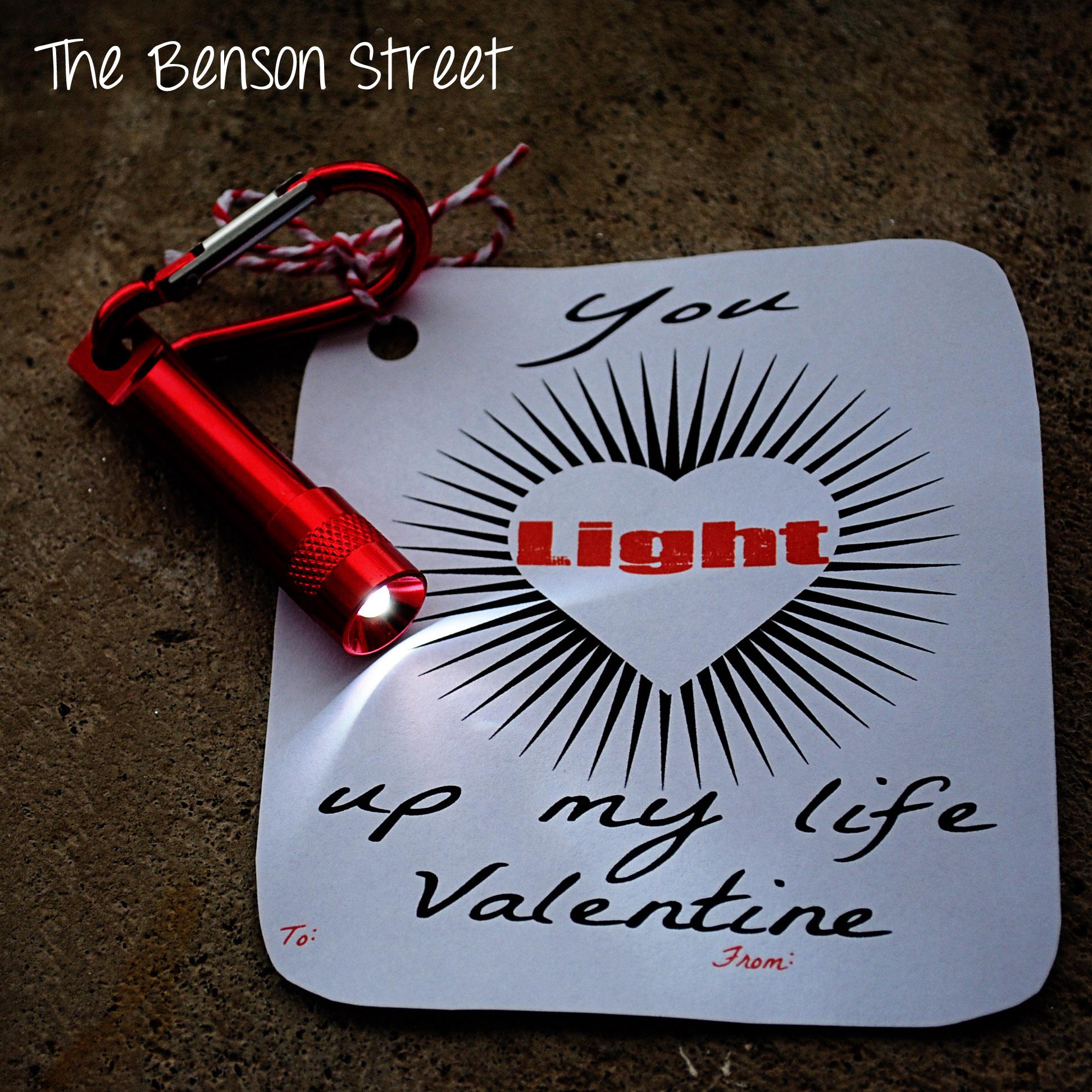 Flashlight Printable Valentine at The Benson Street