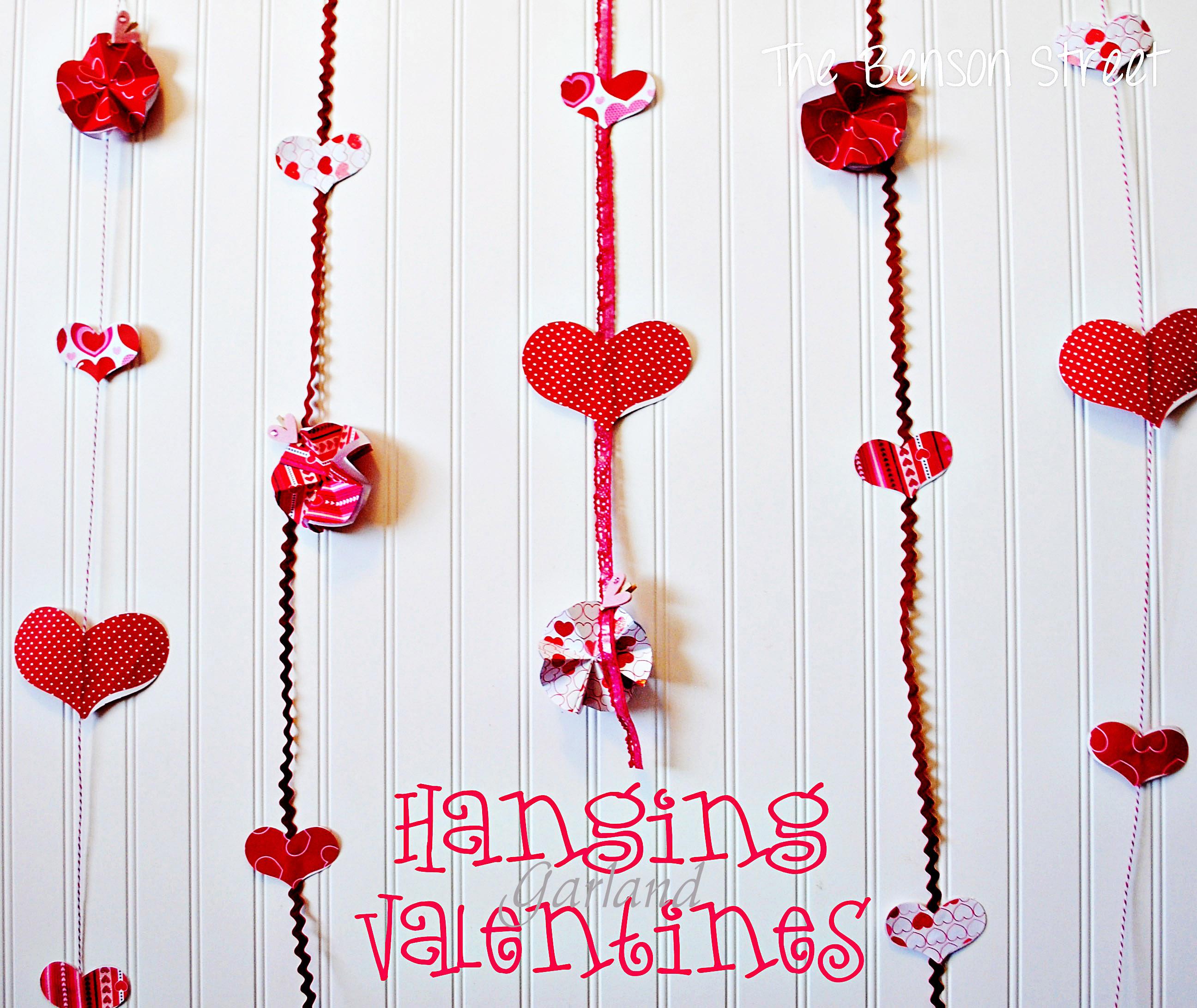 Hanging Valentine Garland at the Benson Street