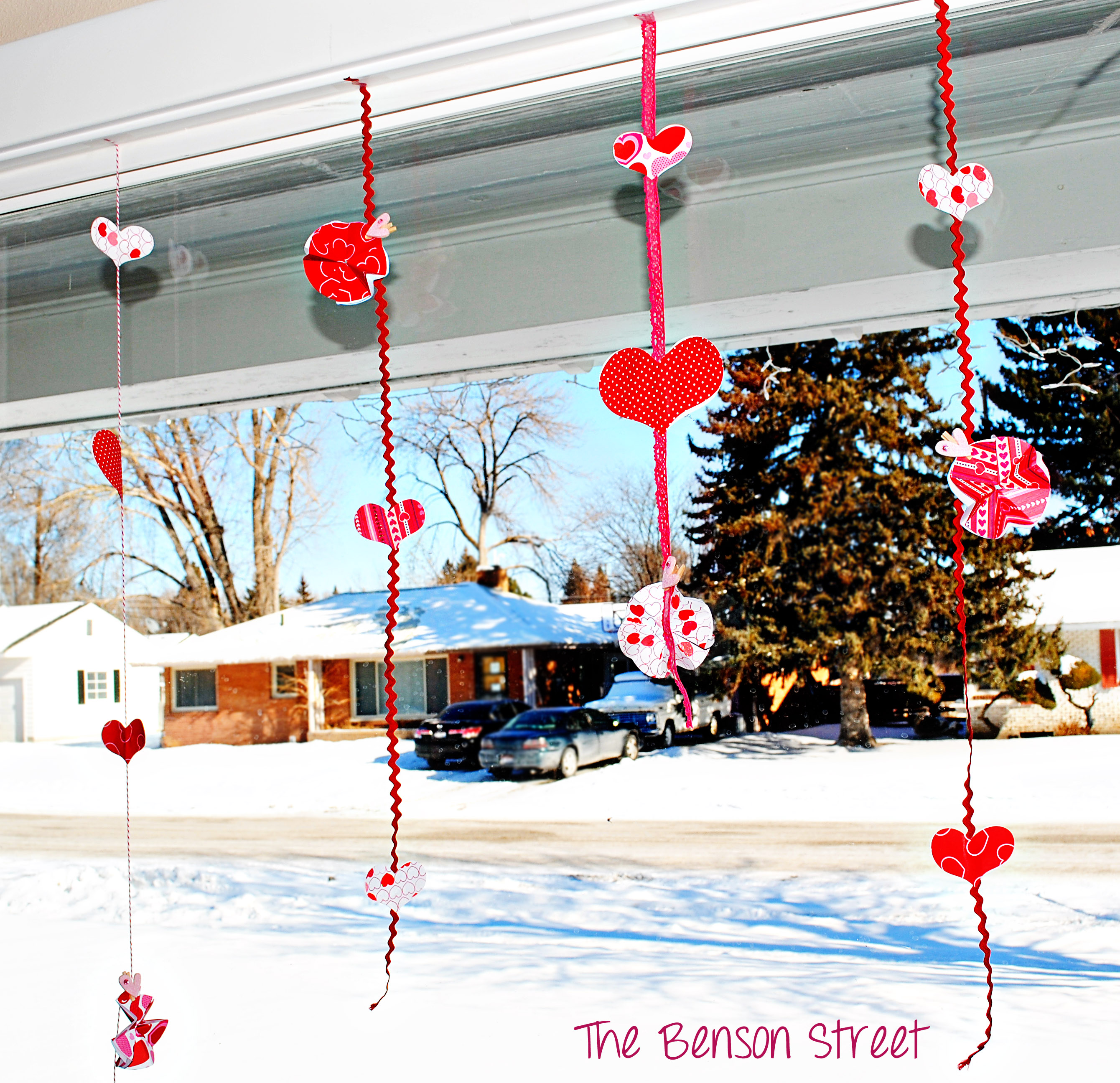 Hanging Valentine Garlands at The Benson Street