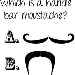 What is a handlebar moustache?