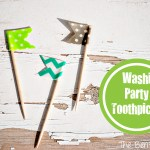 Washi Tape Party Toothpicks
