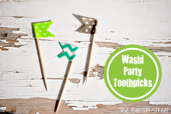 Washi Party Toothpicks at The Benson Street