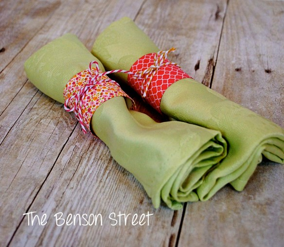 Spring Napkin Rings at www.thebensonstreet.com 4