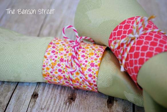 Spring Napkin Rings at www.thebensonstreet.com 9