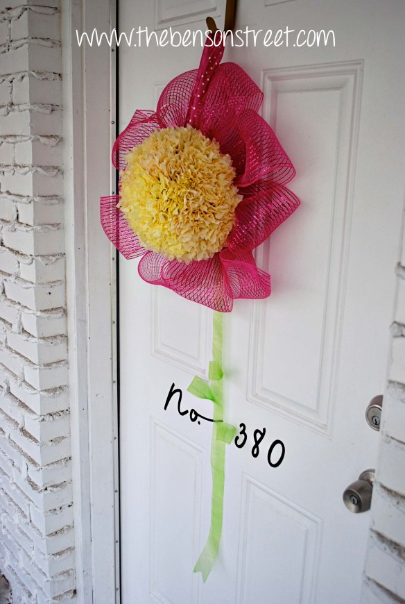 Flower Wreath at www.thebensonstreet.com 9