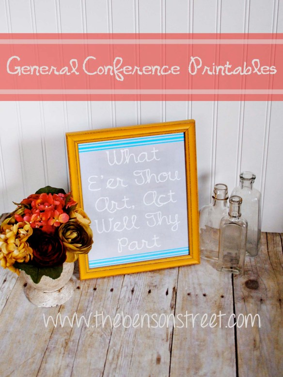 General Conference Printables at www.thebensonstreet.com