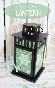 Upcycled Lantern at www.thebensonstreet.com