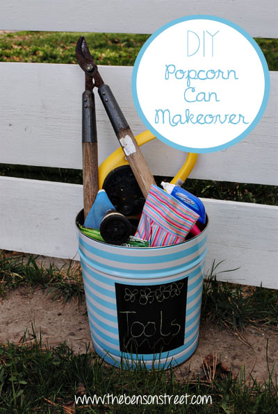 DIY Popcorn Can Makeover at www.thebensonstreet.com