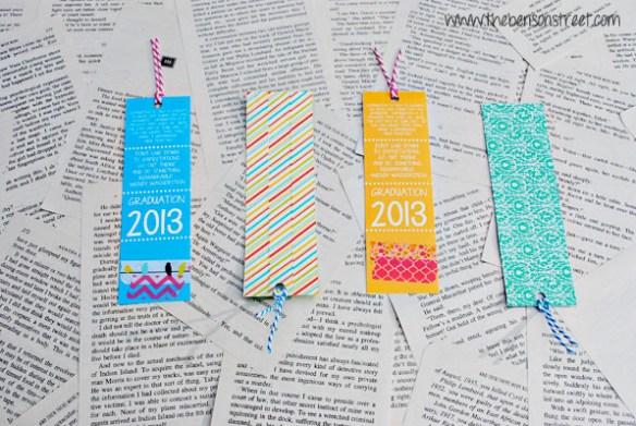 Printable Graduation Bookmark at www.thebensonstreet.com