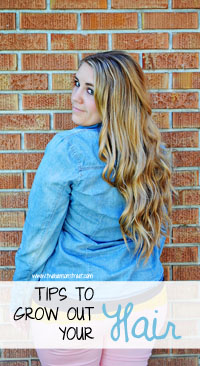 Tips to Grow out your Hair at www.thebensonstreet.com