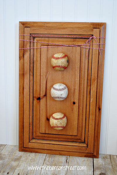 Baseball Wall Decor at www.thebensonstreet.com