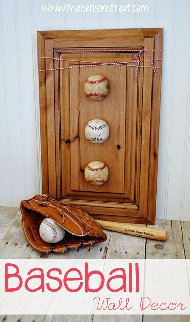 Easy Baseball Wall Decor at www.thebensonstreet.com