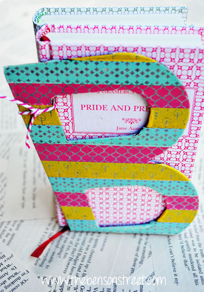 Washi with Bookends at www.thebensonstreet.com