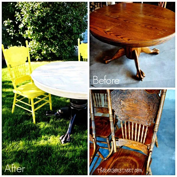 Before & After Upcycled Dining Table at thebensonstreet.com