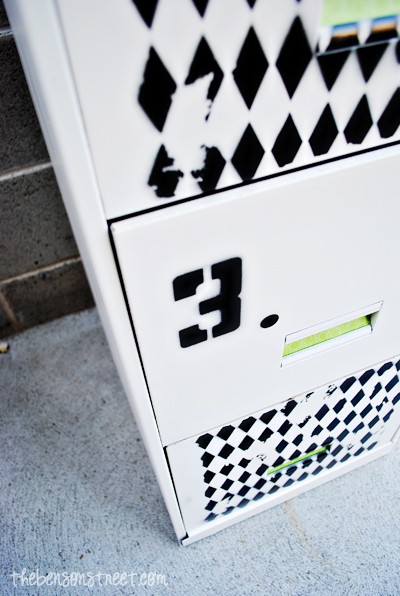 Black & White File Cabinet Tutorial at thebensonstreet.com