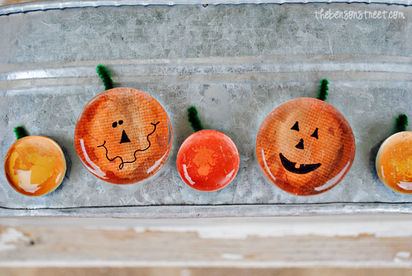 Fall Pumpkin Magnets at www.thebensonstreet.com