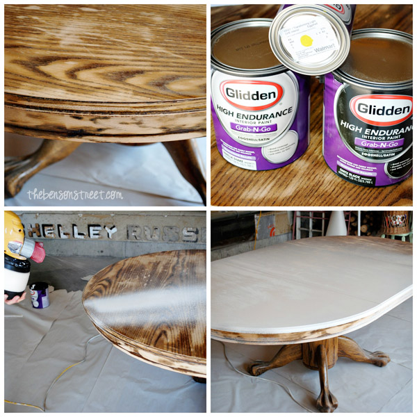 Fun table upcycle at thebensonstreet.com